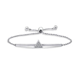 Kiera PAVE TRIANGLE CENTER BOLO FRIENDSHIP BRACELET - GEMOUR