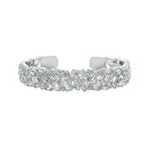 KIERA COUTURE Princess Baguette Princess Sterling Silver Bangle - GEMOUR