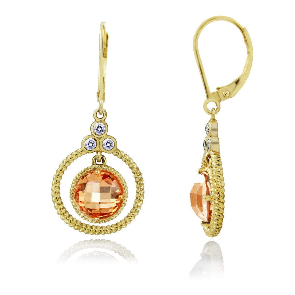 Kiera New York ROPE CIRCLE DROPS EARRINGS - GEMOUR