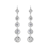 Graduated Round Brilliant Drops Leverback Earring - GEMOUR