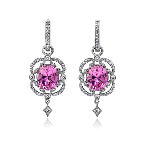 Kiera Couture Halo and Rope Asscher Stud Earrings