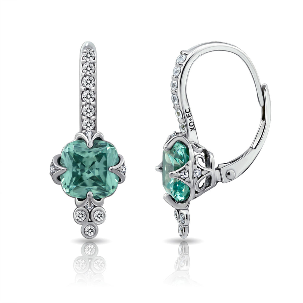 GEMOUR COLLECTION Tourmaline Leverback Earrings - GEMOUR