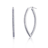 Pavé Marquise Hoop Earrings - GEMOUR
