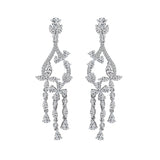 MARQUISE Flower CHANDELIER EARRINGS - GEMOUR