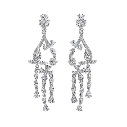 Kiera Couture Pear Chandelier Earrings