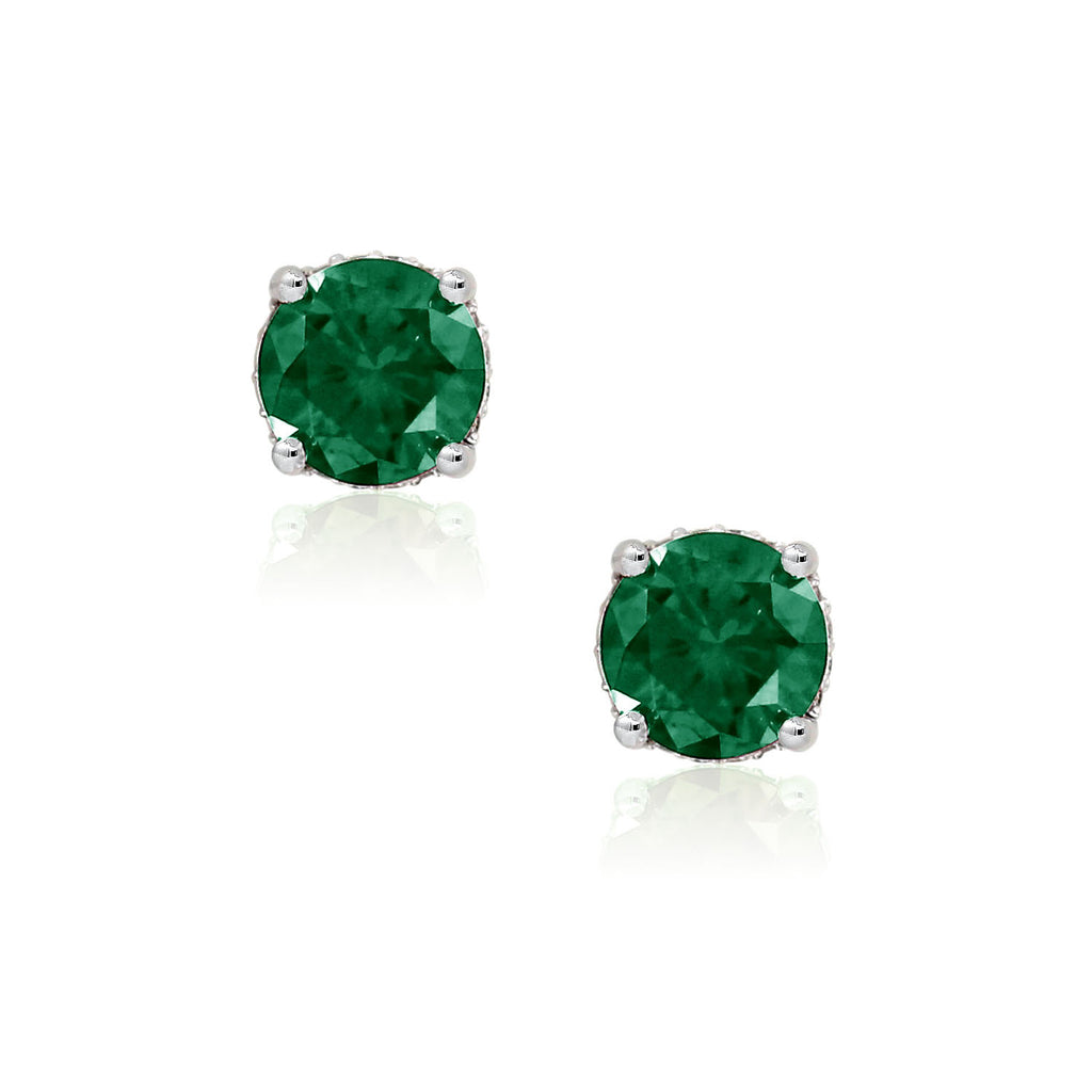 Classic Simulated Gemstone Stud Earring - GEMOUR