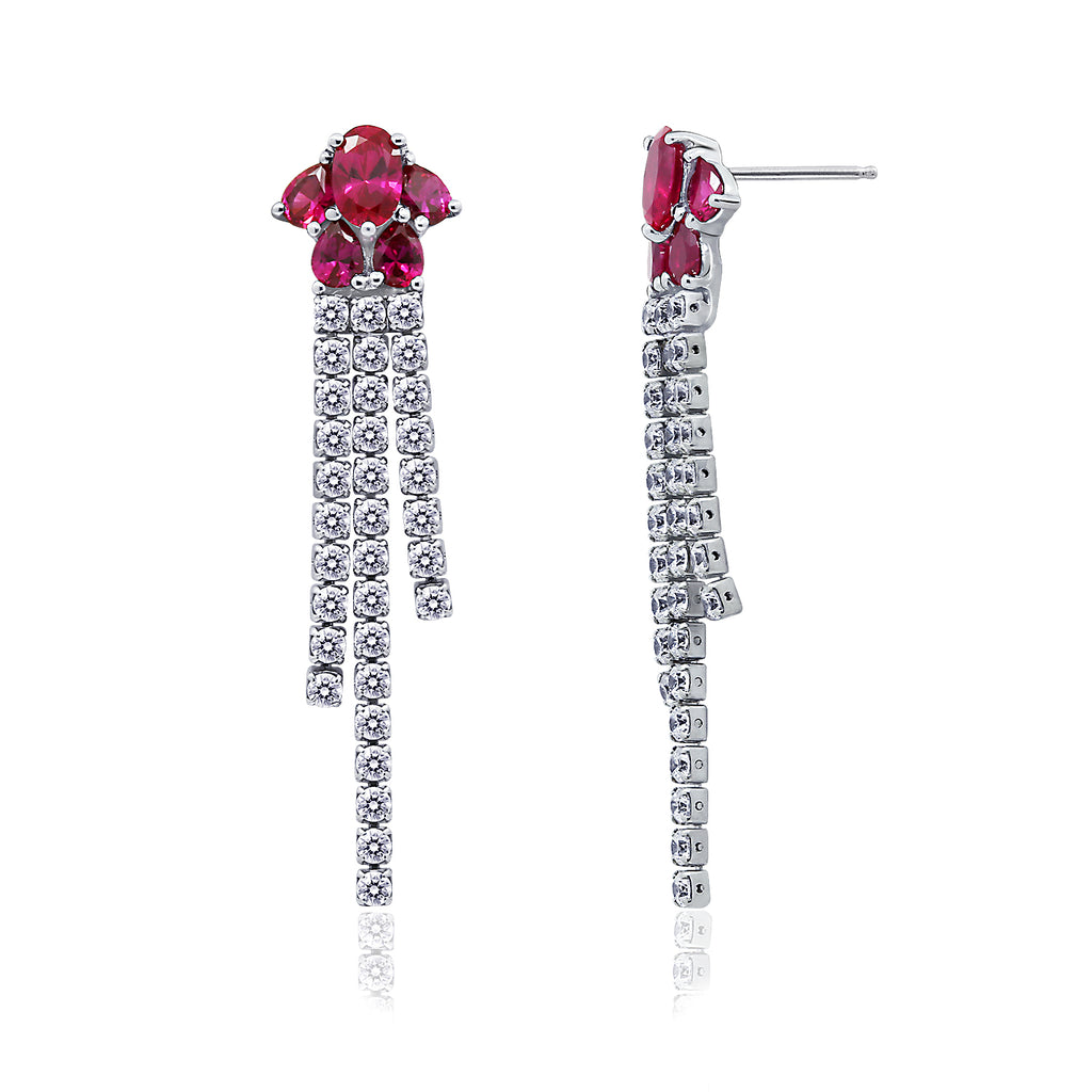 Kiera Couture Created Ruby Gala Earrings - GEMOUR