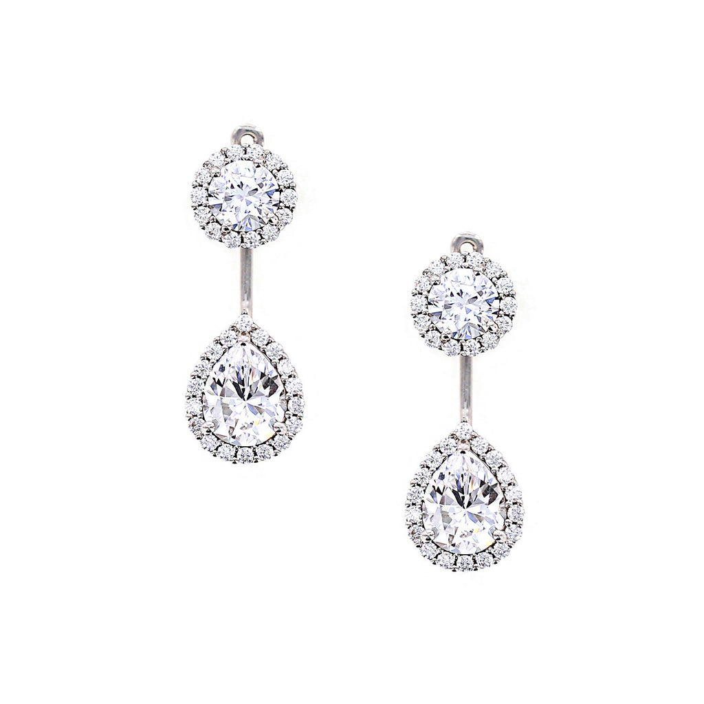 Kiera Couture Round and Pear Halo Ear Jacket - GEMOUR