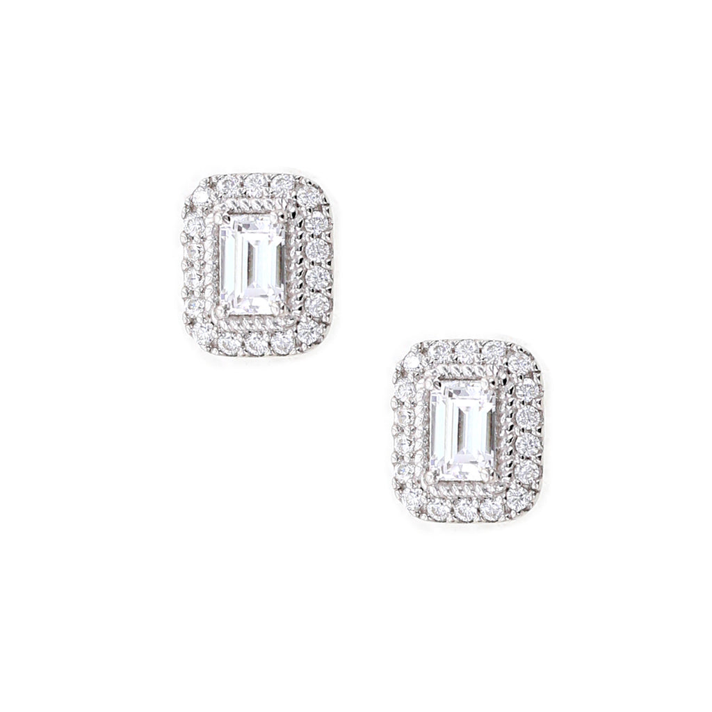 diamonds carat gold earrings with halo stud in of tw white