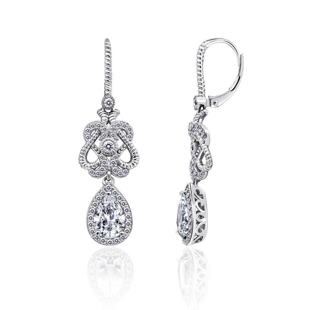 Kiera New York Rope Filigree Drop Earring - GEMOUR