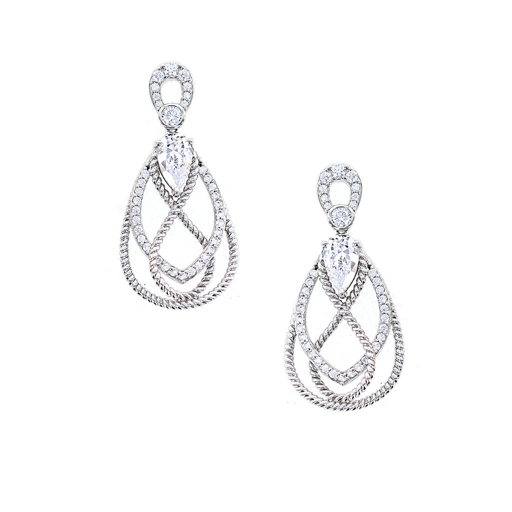 Kiera New York Teardrop Rope Textured Earrings - GEMOUR