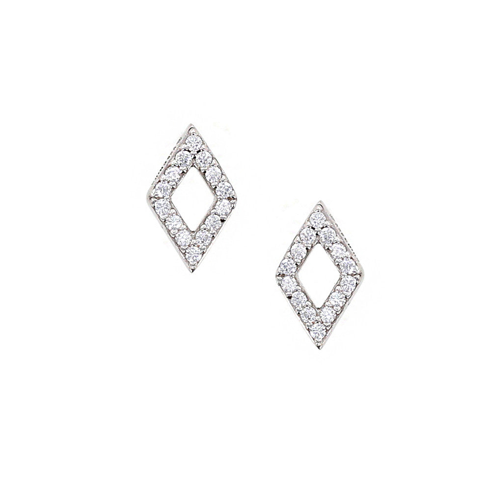 chanel crystal vault consignment products earrings diamond shaped cc designer stud