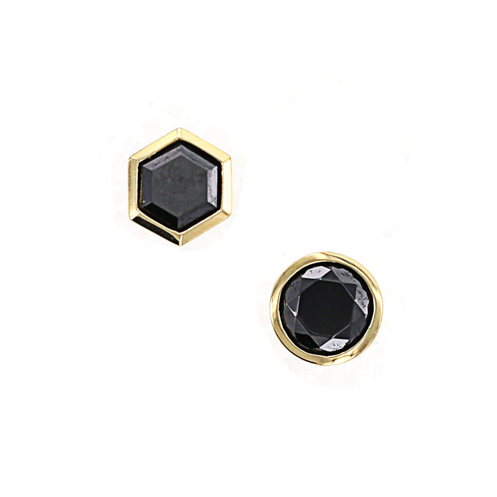 Kiera New York Gold Spinel Mixed Round/Hexagon Stud Earrings - GEMOUR