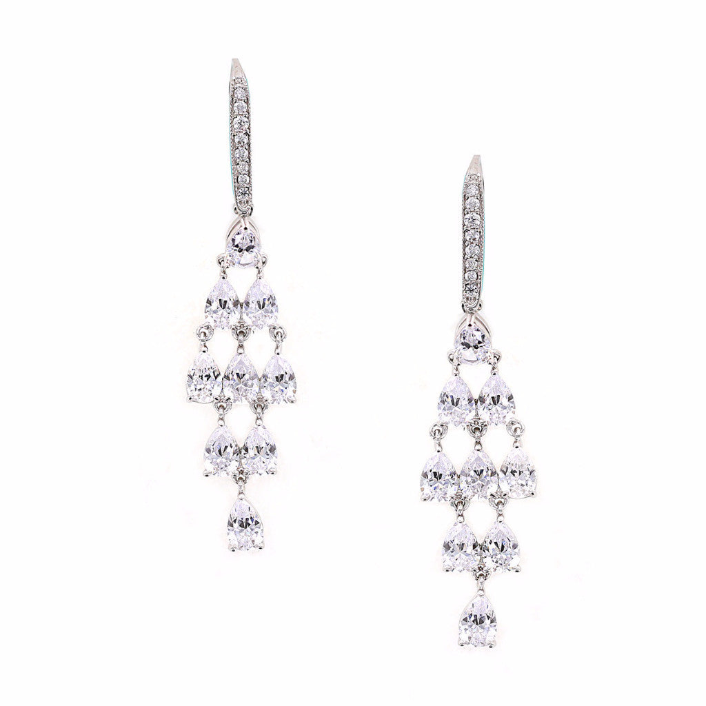 Kiera Couture Pear Chandelier Earrings - GEMOUR