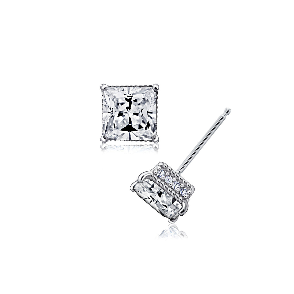Kiera Couture Signature Pave Cubic Zirconia Stud Earrings - GEMOUR
