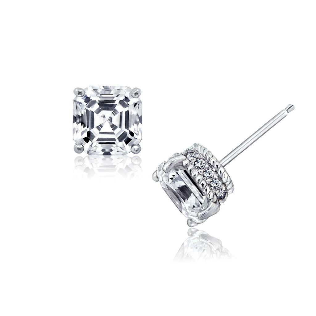 eedc96228 ... Kiera Couture Signature Pave Cubic Zirconia Stud Earrings - GEMOUR ...
