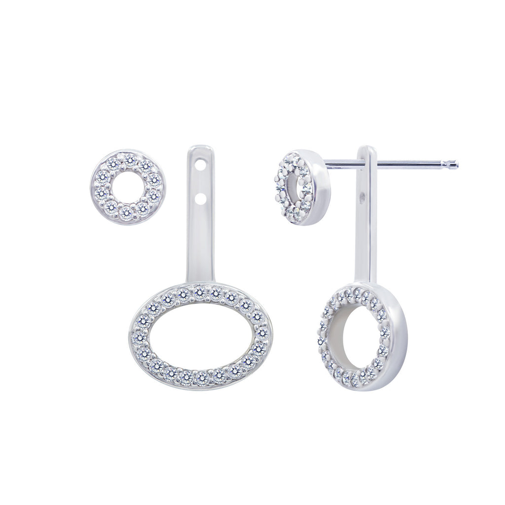 Kiera New York PAVE OVALS EAR JACKET - GEMOUR