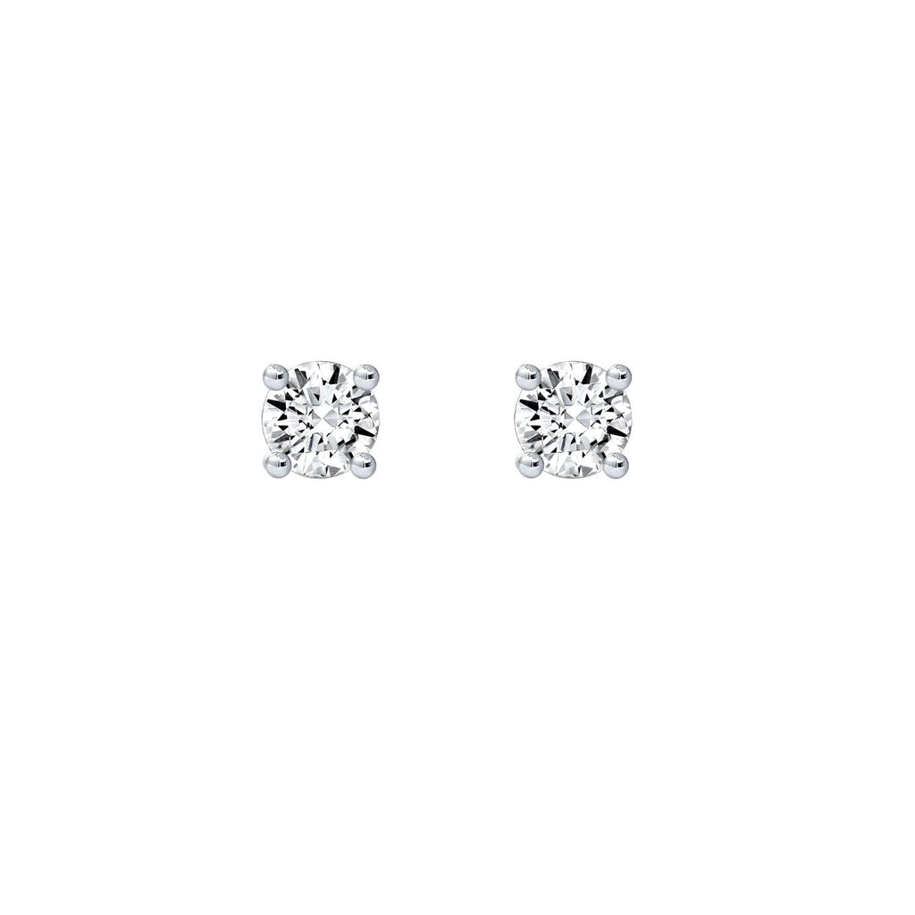 Kiera Couture 4mm Medium Round Solitaire Stud Earrings - GEMOUR