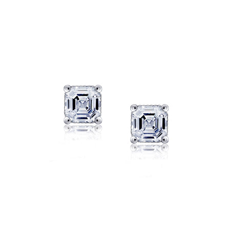 Kiera Couture 4mm Medium Round Solitaire Stud Earrings