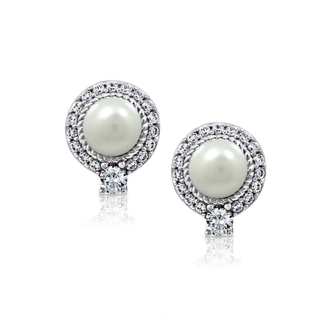 Kiera Couture 8mm clear round cut stud earrings