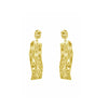 GLOW SOCIETY Sculpture Collection - Baby-Hammered Vintage Earrings - GEMOUR