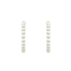 GLOW SOCIETY Pearl Collection - Medium Pearl Hoop Earrings - GEMOUR