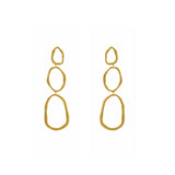 GLOW SOCIETY Curvilinear Forms Collection - Three Organic Shape Link Drop Earrings - GEMOUR