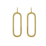 GLOW SOCIETY Curvilinear Forms Collection - Rope Textured Open Oval Pendant Earrings - GEMOUR