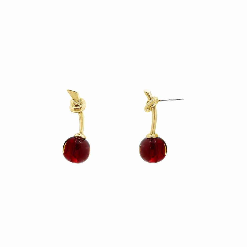 GLOW SOCIETY Fruit Collection - Crystal Cherry Stud Earrings - GEMOUR