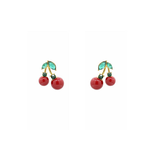 GLOW SOCIETY Fruit Collection - Red Banana Drop Earrings