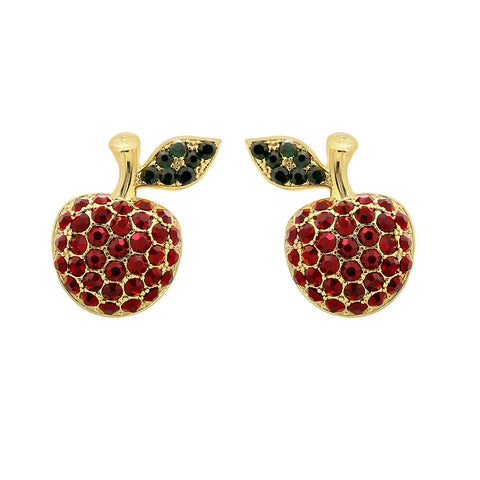 GLOW SOCIETY Fruit Collection - Banana With Yellow & Peach Crystal Stud Earrings