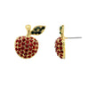 GLOW SOCIETY Fruit Collection - Crystal Apple Stud Earrings - GEMOUR
