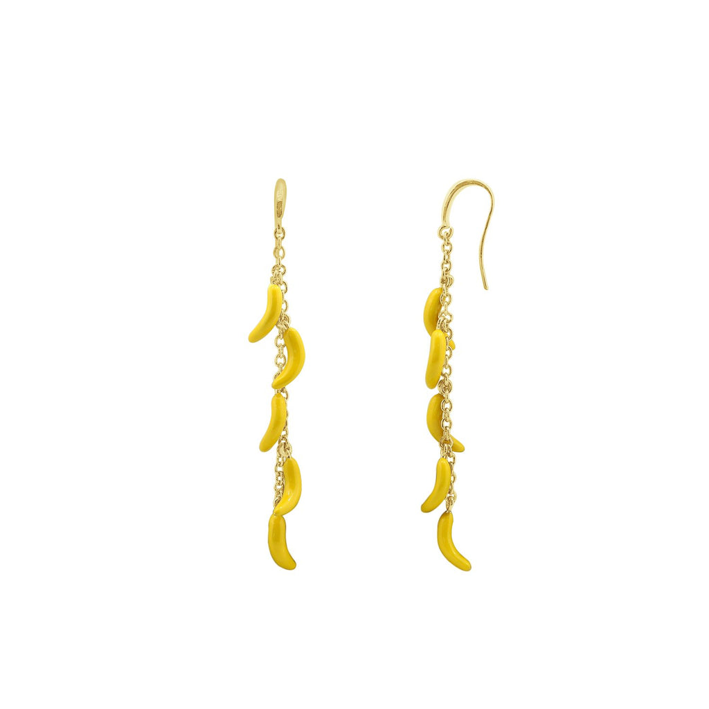 GLOW SOCIETY Fruit Collection - Red Banana Drop Earrings - GEMOUR