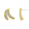 GLOW SOCIETY Fruit Collection - Double Banana With Clear Crystal Stud Earrings - GEMOUR