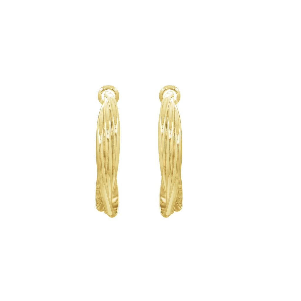 GLOW SOCIETY ATELIER DISKS COLLECTION - Trio Twisted Hoop Earrings - GEMOUR