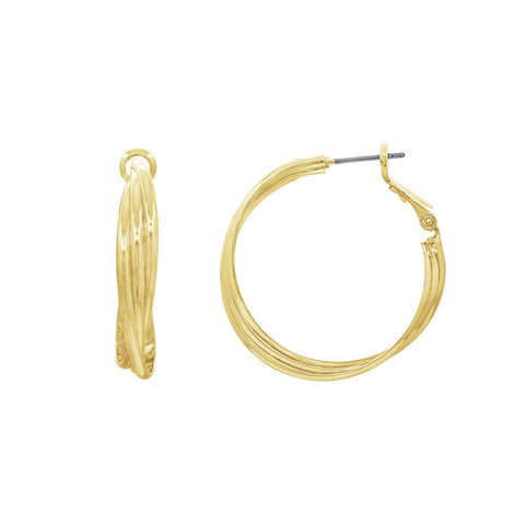 GLOW SOCIETY Atelier Disks Collection - Linked Mini Dobule Horseshoe Dangle Earrings