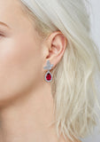 Kiera Couture SIMULATED GEMSTONE DROP EARRINGS - GEMOUR