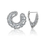 Kiera Couture Forward Facing Round Hoop Earring - GEMOUR