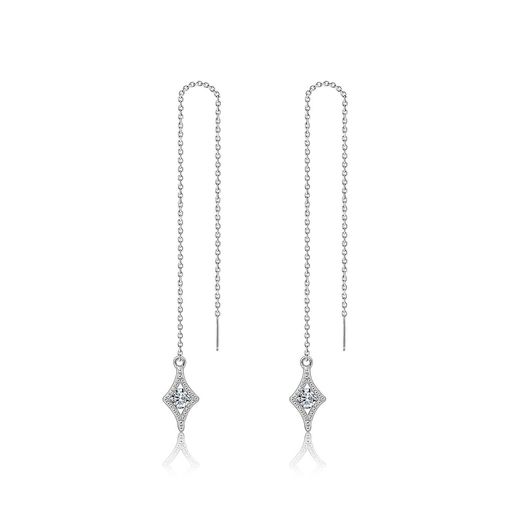 Couture Pave Mini Star Threader Earrings - GEMOUR