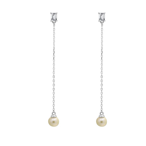GLOW SOCIETY Link Collection - Open Link 14K Gold Plated Long Earring
