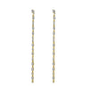 KIERA COUTURE Baguette Cz Sterling Silver Thread Earrings - GEMOUR