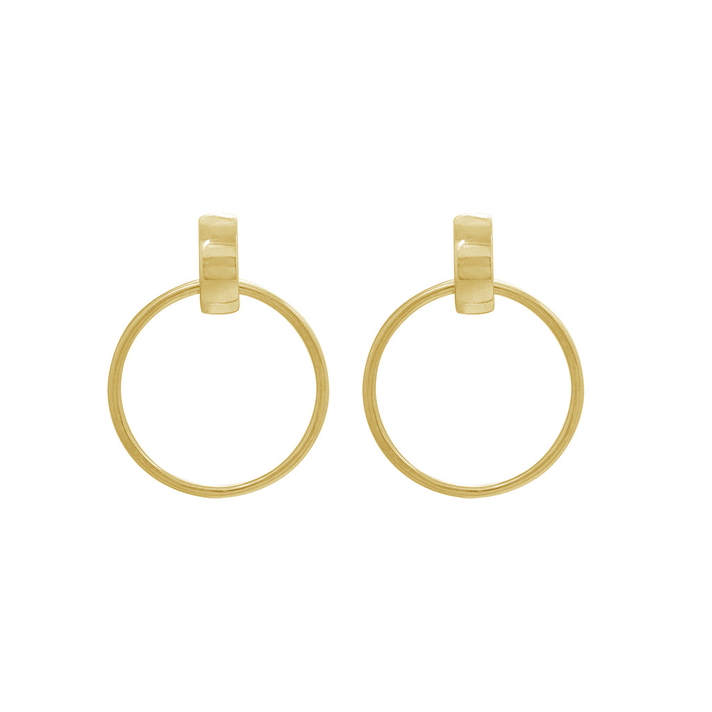 J'ADMIRE-Yellow-Gold-Clad-Sterling-Silver-Hoop-Stud-Earrings