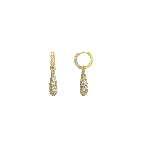 J'ADMIRE 14K Gold Marquise Cut Swarovski ® Zirconia Halo Stud and Pave Turtle Stud Earring Set