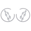 KIERA COUTURE Platinum Clad Sterling Silver 5.27 cttw Cubic Zirconia Web Hoop Stud Earrings - GEMOUR