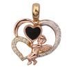 GEMOUR Gold Plated Sterling Silver Cubic Zirconia Love Angel Pendant - GEMOUR