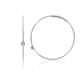 Delicate Stainless Steel Hoop Earrings - GEMOUR