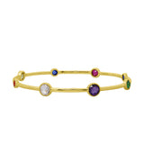 GLOW SOCIETY Shades of Rainbow Collection - Station Bangle Bracelet - GEMOUR