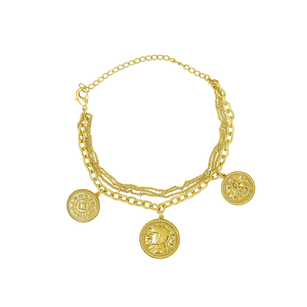 GLOW SOCIETY Coin Collection - Chain of Lucky Charms Bracelet - GEMOUR