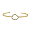 GLOW SOCIETY Curvilinear Forms Collection - Organic Bangle Bracelet with Zirconia - GEMOUR
