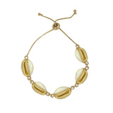 GLOW SOCIETY Ocean Breeze Collection - Cowrie Shells Adjustable Bracelet - GEMOUR